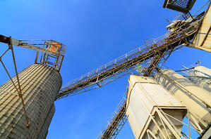 Abstract view of a cement plant